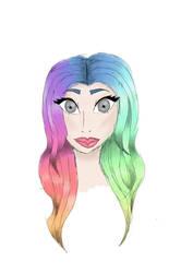 Hair Practice Scribble by Zara-V-Bia