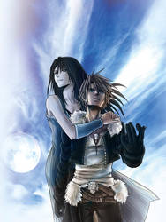 Squall leonhart/Rinoa heartilly - FFVIII Fan Art by MCAshe