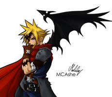 Cloud KH1 Halloween by MCAshe