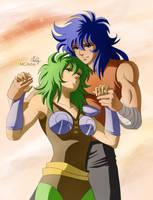 Commission -  couple - Milo / Shaina by MCAshe