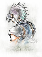 Zack Fair Artwork Final Fantasy VII - Crisis Core by MCAshe
