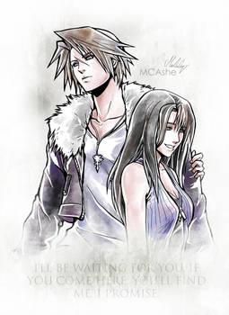 Squall / Rinoa  Artwork Final Fantasy VIII by MCAshe