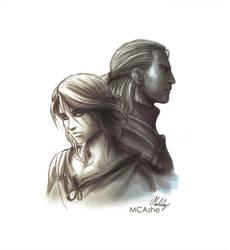 The Witcher 3 - Ciri / Geralt Artwork by MCAshe