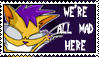 We're All Mad Here Stamp by Spectra22