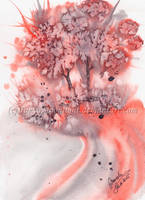 Red Trees by TokyoMoonlight
