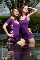 Purple dresses by Arielle-Fox
