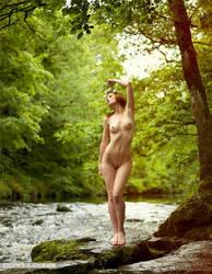 contemplating a swim by Arielle-Fox