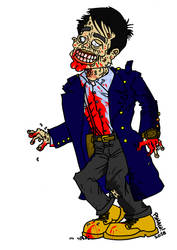 Zombie Capt. Jack Harkness by tard15