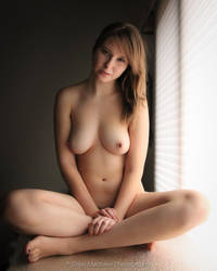 Window Portrait Nude by BrianMPhotography