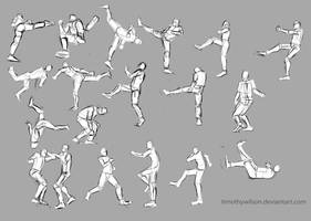 captain america Action/ fight scene poses. by TimothyWilson