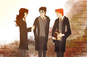 the golden trio by laugiancoli