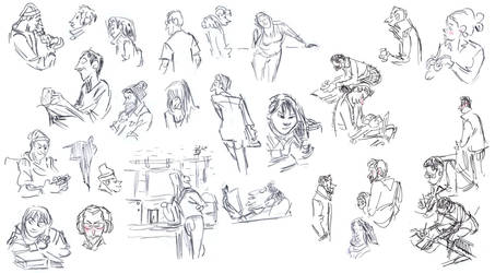 cafe sketchies by jesseaclin