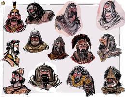 Warrior faces by jesseaclin