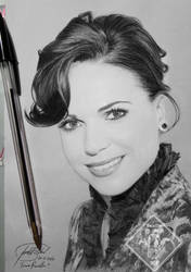 Lana Parrilla Portrait/Retrato Black pen/Boli negr by IrtyBarber