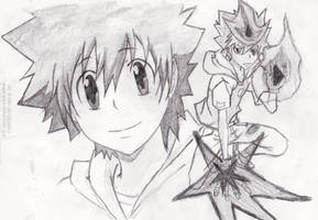 Tsuna by d0ubl2