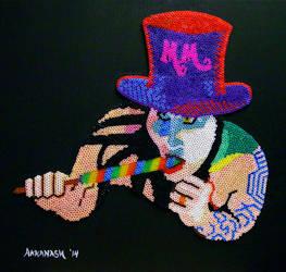 Marilyn Manson Perler Bead Mosaic by Akkanash