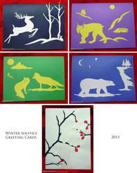 Winter Solstice Greeting Cards by Akkanash