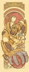 Mucha style Evangelion by masudamasaru