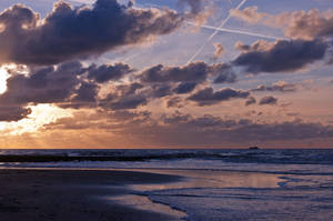 Saltire Beach by DeborahBeeuwkes