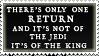 Return of the KING stamp by purgatori