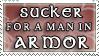 Sucker for man in Armor by purgatori