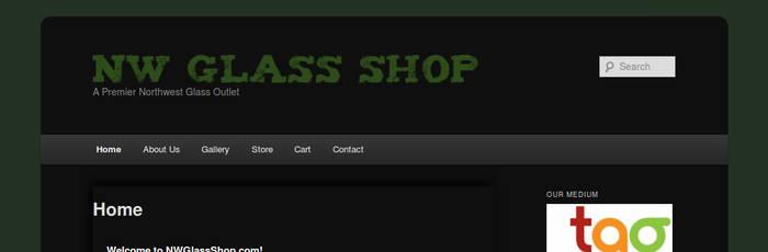 Original NWGlassShop.com WordPress Design by LfuckinD