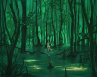 The girl of the swamp by Kiyoshuki