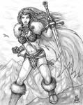 Barbarian Woman by Spacegryphon