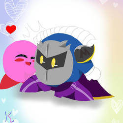 Old Meta Knight and Kirby picture.. by KukulkanFromSmite