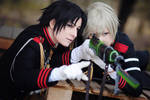 Guren and Shinya by kayleighloire