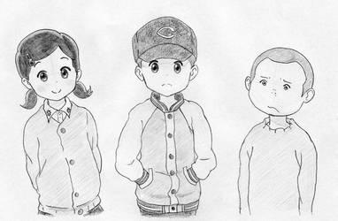 KumaMiko - Kaori, Shouta and Tamotsu by jlochoap