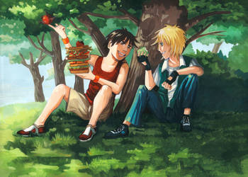 An afternoon in the shade by Rikae