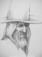 Gandalf Sketch by outsidelogic