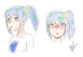 Earth-chan sketch by Konakurou