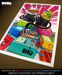 Adventure Time x Daft Punk fan art by DoomCMYK