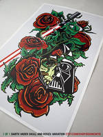 Darth Vader Skull and Roses by DoomCMYK