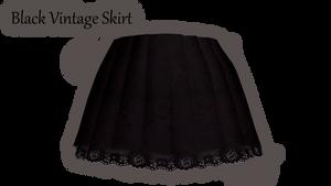 [MMD\PMD\PMX Parts] Black Vintage Skirt+Download by lazySmokie