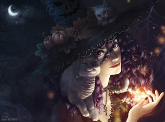 Halloween Witch by merkerinn