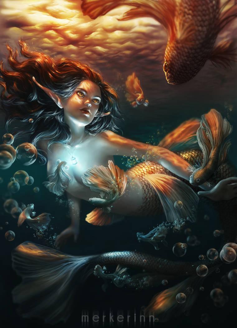 Heart of a mermaid by merkerinn