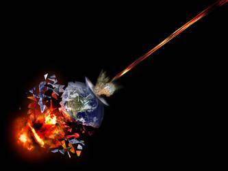 Earth explosion Apocalypse by corvintaurus