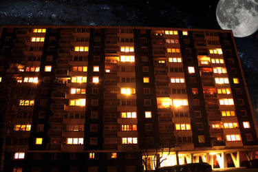 Wohnblock - residential block by corvintaurus