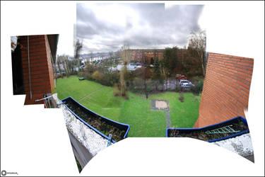Panorama Duesseldorf by corvintaurus