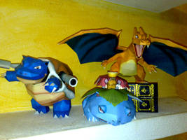 Kanto starters papercrafts by LordBruco