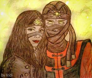 Ermac and Jeifara by ErmacEruErmac