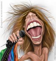 Steven Tyler caricature by lufreesz