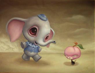 peaches and the elephunt by JasonJacenko