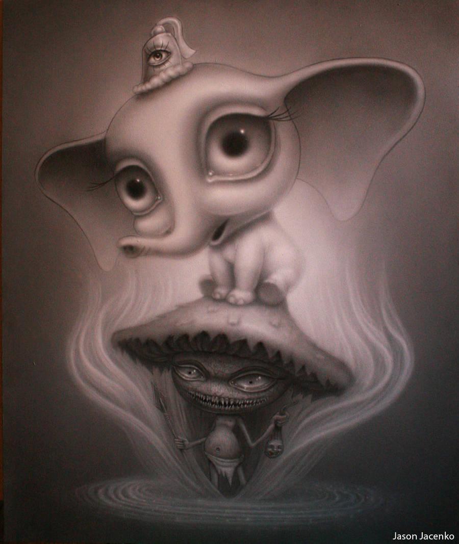 the shroom and the elephant by JasonJacenko