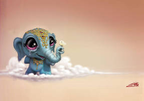 elephant in the clouds by JasonJacenko