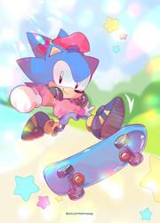 Classic Sonic by lemonhe4rt