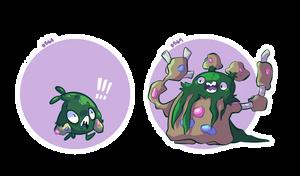 pokemon a day: 568-569 by hydroflorix